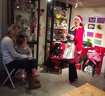 Annette Lindén showade för barnen.