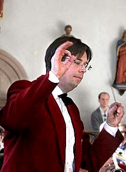 Andreas Wetterlund, dirigent för Limhamns Brassband.