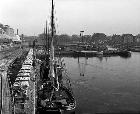 En av bilderna ifrån utställningen Fiske och sjöfart i Limhamn. Tagen av Edward Rosengren