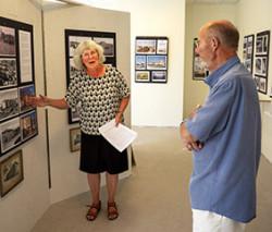 Elisabeth Ivansson berättade om Limhamns utveckling under onsdagen.