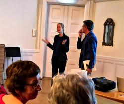Lars-Göran Lundgren tackade Jenny von Platen för en fängslande förläsning.