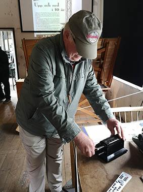 Lennart Billström berättar om sina erfarenheter av räknemaskinen modell ä.