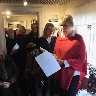 June Palmqvist berättade om sin släkt som bott i Limhamn i flera generationer.