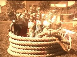 Fest (?) på Bindgarnsfabriken
