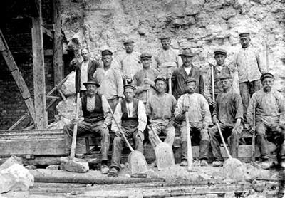Kalkbrottsarbetare.